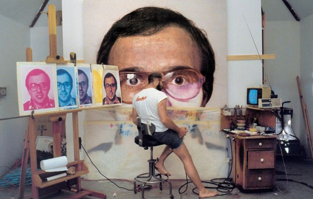 Chuck Close painting from photographs