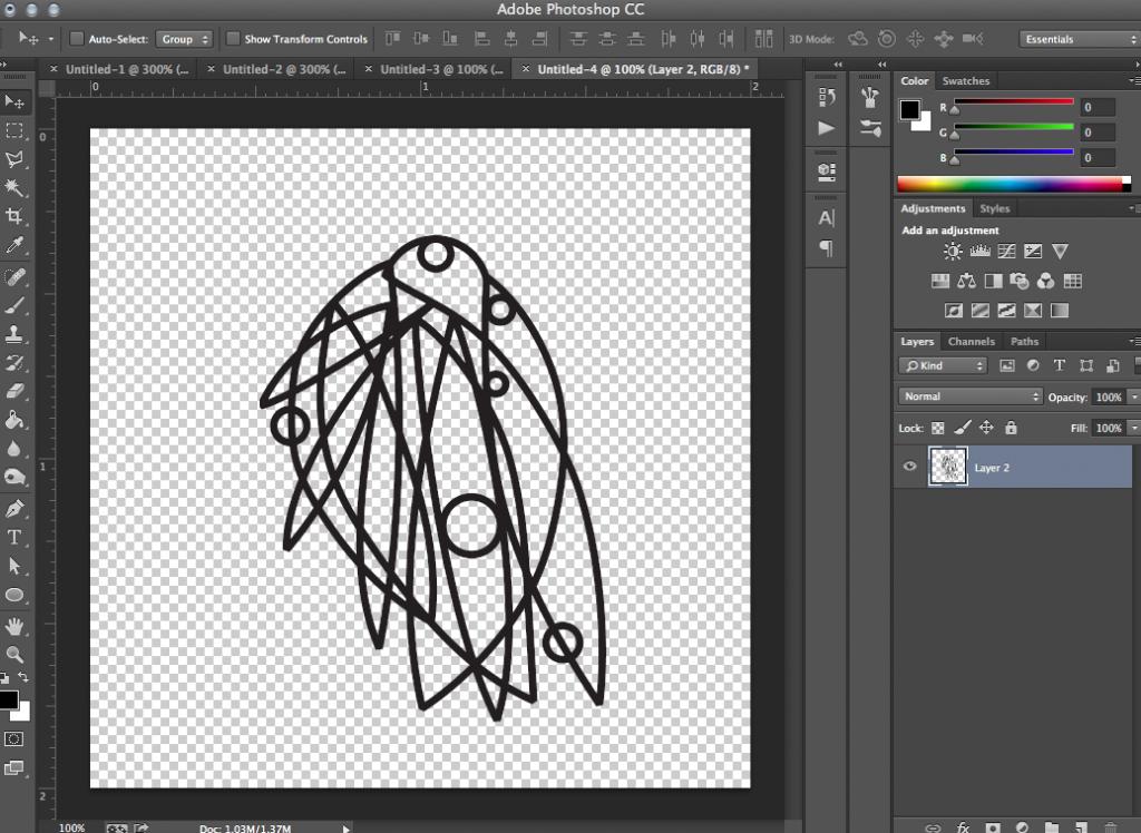 create line drawing