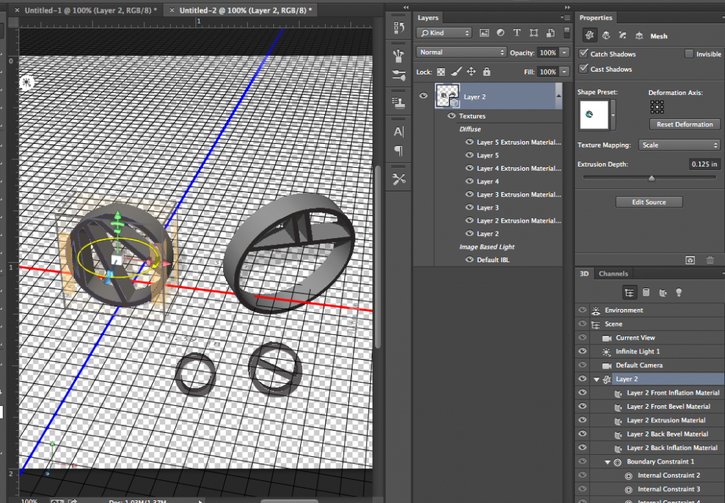 combined layers 3D object