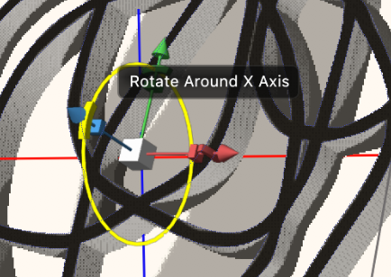 rotate around x axis